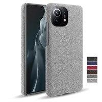 Luxury Febric Antiskid Cover Coque For Xiaomi Mi 11 10 9T Poco X3 NFC X2 F2 Pro F1 9 8 SE A1 5X 6X A2 Lite A3 Max 3 Mix 2 S Case