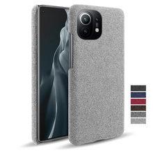 De Lujo tela antideslizante cubierta Coque para Xiaomi Mi 11 10 9T Poco X3 NFC X2 F2 Pro F1 9 8 SE A1 5X 6X A2 Lite A3 Max 3 Mezcla de 2 S
