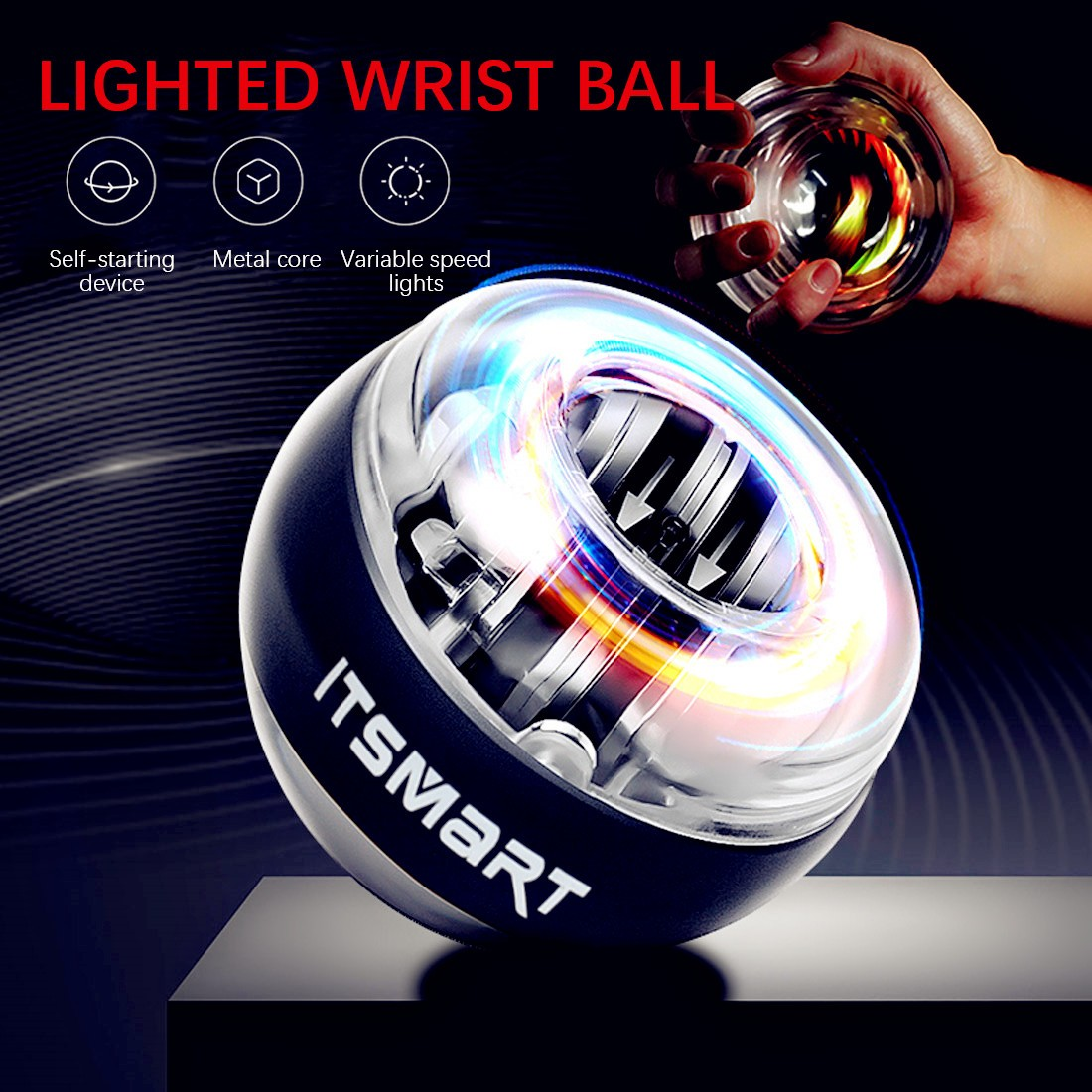 Resbo New Gyroscope Workout Wrist Arm Green Hand Muscle Force Power  Exercise Strengthen Ball Trainer Fitness Equipment - buy at the price of  $4.77 in aliexpress.com   imall.com