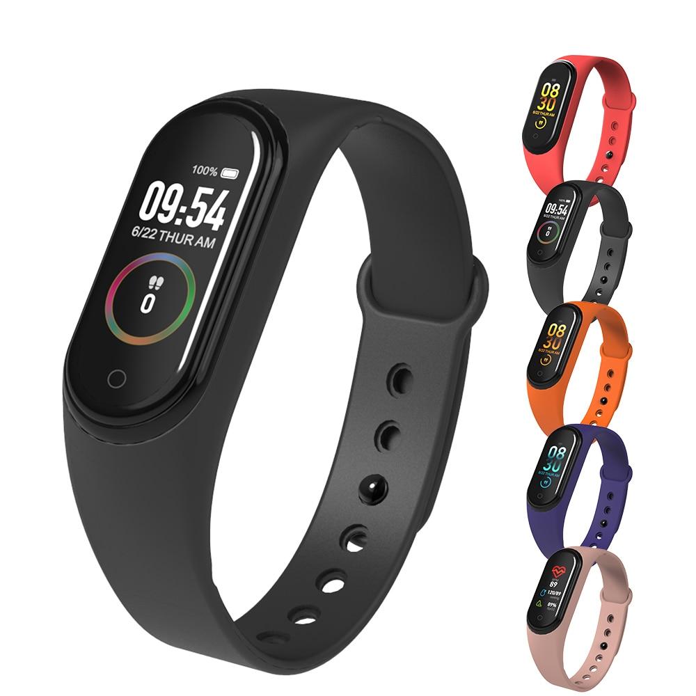 Nova M4 Inteligente Pulseiras Banda Rastreador De Fitness Saúde Freqüência Cardíaca Bluetooth Monitor de Pressão Arterial Mi Banda Esportes Pulseira PK 4 3