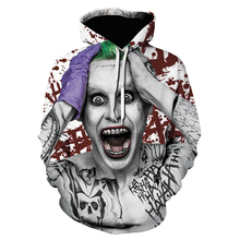 Clown funny Pattern 3D Print Hoodies Autumn and winter New Men  Fashion Casual Funny Pullover Clown Pattern Print Hoodies Tops printio funny clown