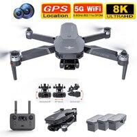 2021 nuovo KF101 GPS Drone 4K HD fotocamera professionale 5G Wifi 3 assi Gimbal EIS Anti-Shake FPV Drones Quadcopter RC giocattoli per elicotteri