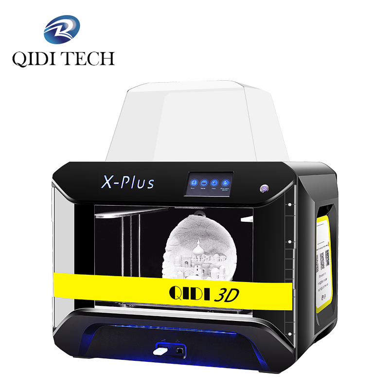 Qidi tech impressora 3d x-plus tamanho grande inteligente grau industrial mpresora 3d wifi função de alta precisão impressão