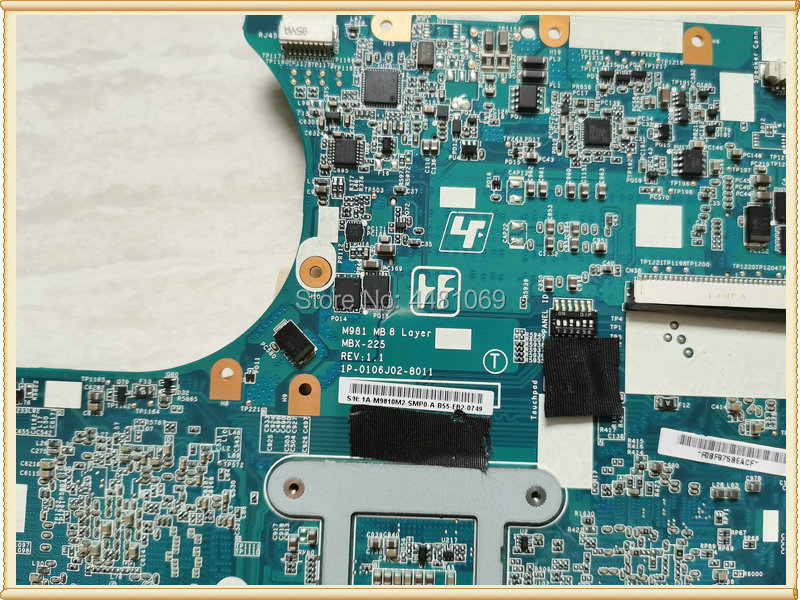A1771579A VPCEC SERIES ,M981 Lapto MBX-225 Main Board For VPC-EC Series VPCEC2TFX Laptop Motherboard Mainboard S988a W/ 1GB HM55