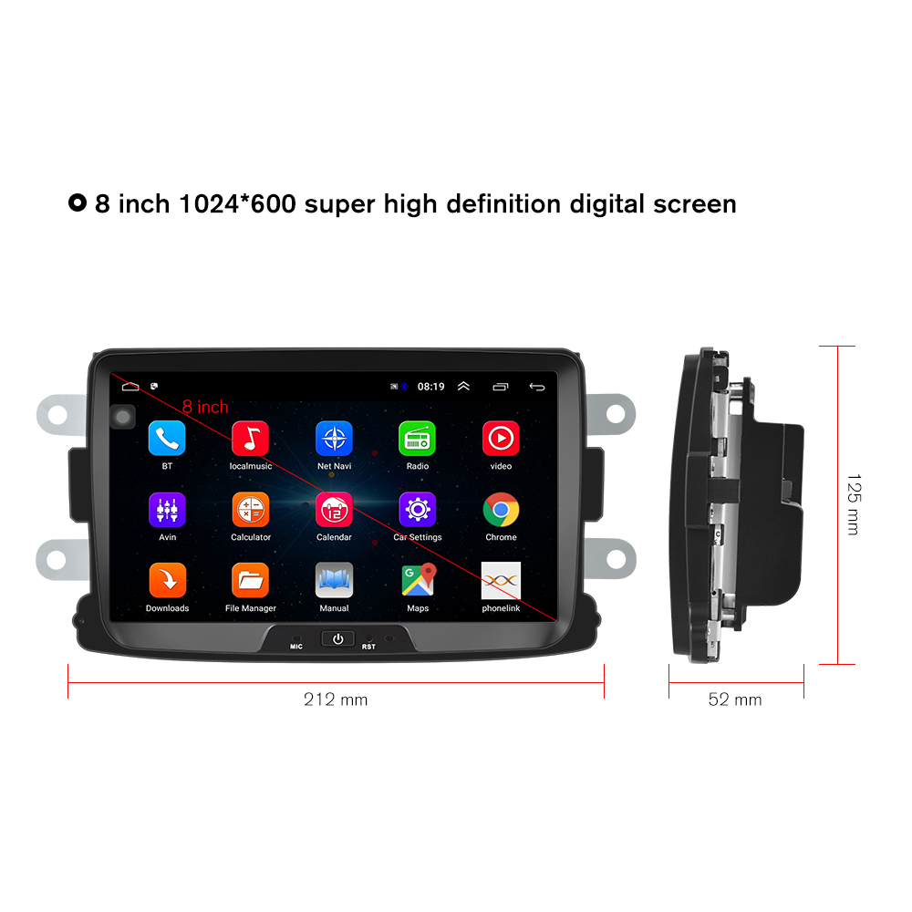 Image 2 - Hikity Android Car Radio Autoradio 8''2 Din Car Multimedia MP5 Player GPS Buletooth Car Stereo Mirror Link For Renault Sander-in Car Multimedia Player from Automobiles & Motorcycles