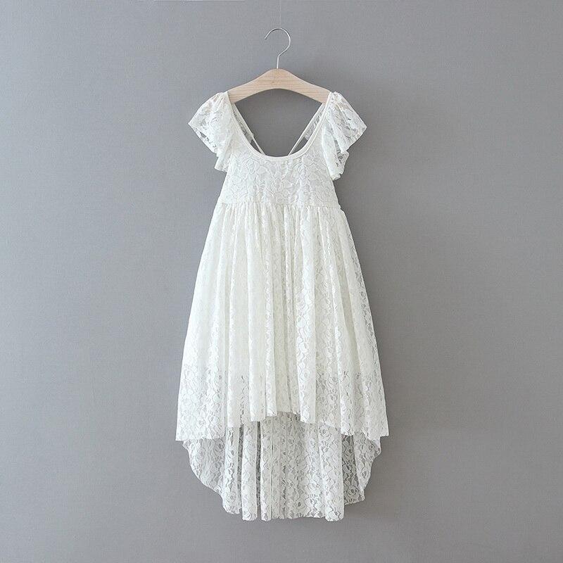 70-17-White Lace Girls Dress
