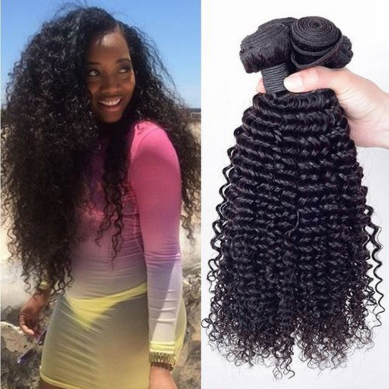 European And American Wig Real Human Hair Curtain Long Curly Hair Wig For Female