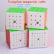 Magic-Cube 7x7x7 Magnetic Puzzle 4x4x4 5x5x5 6x6x6 Yusu Yushi Yufu Yuchuang Yongjun-M