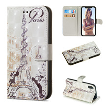 3D painted wallet style pu material mobile phone case for LG