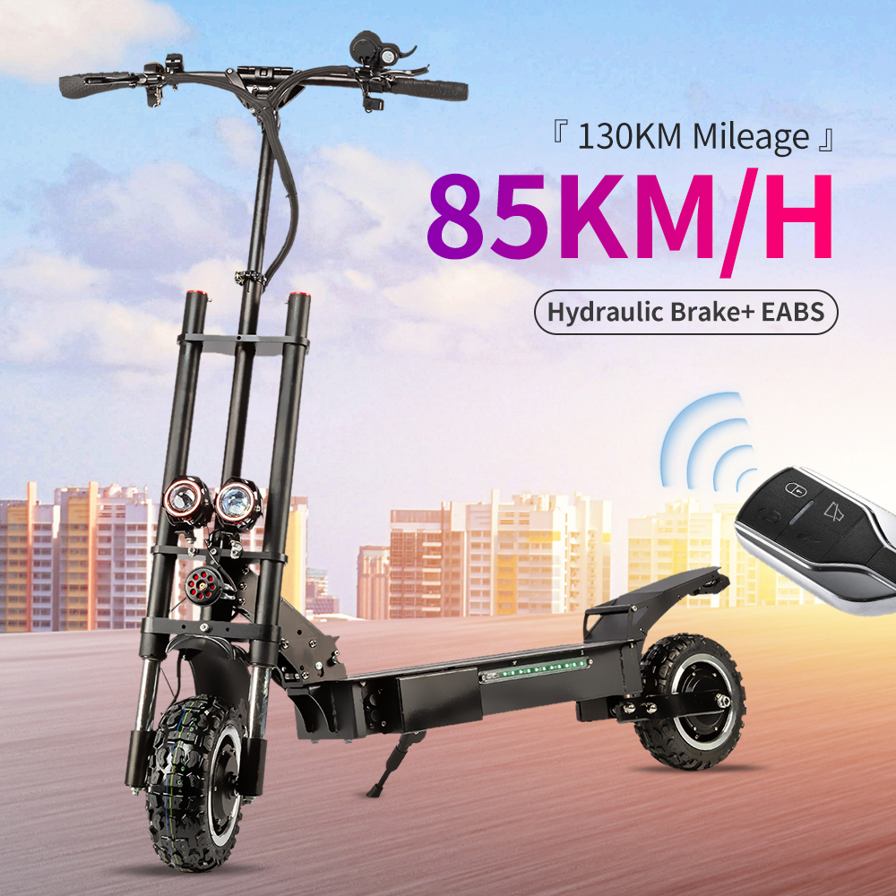 Halo Knight 85KM/H Foldable Electric Scooter With Seat 11inch 60V 5600W Dual Motors Adult <font><b>E</b></font> scooter 130KM Mileage <font><b>Motorcycle</b></font> image
