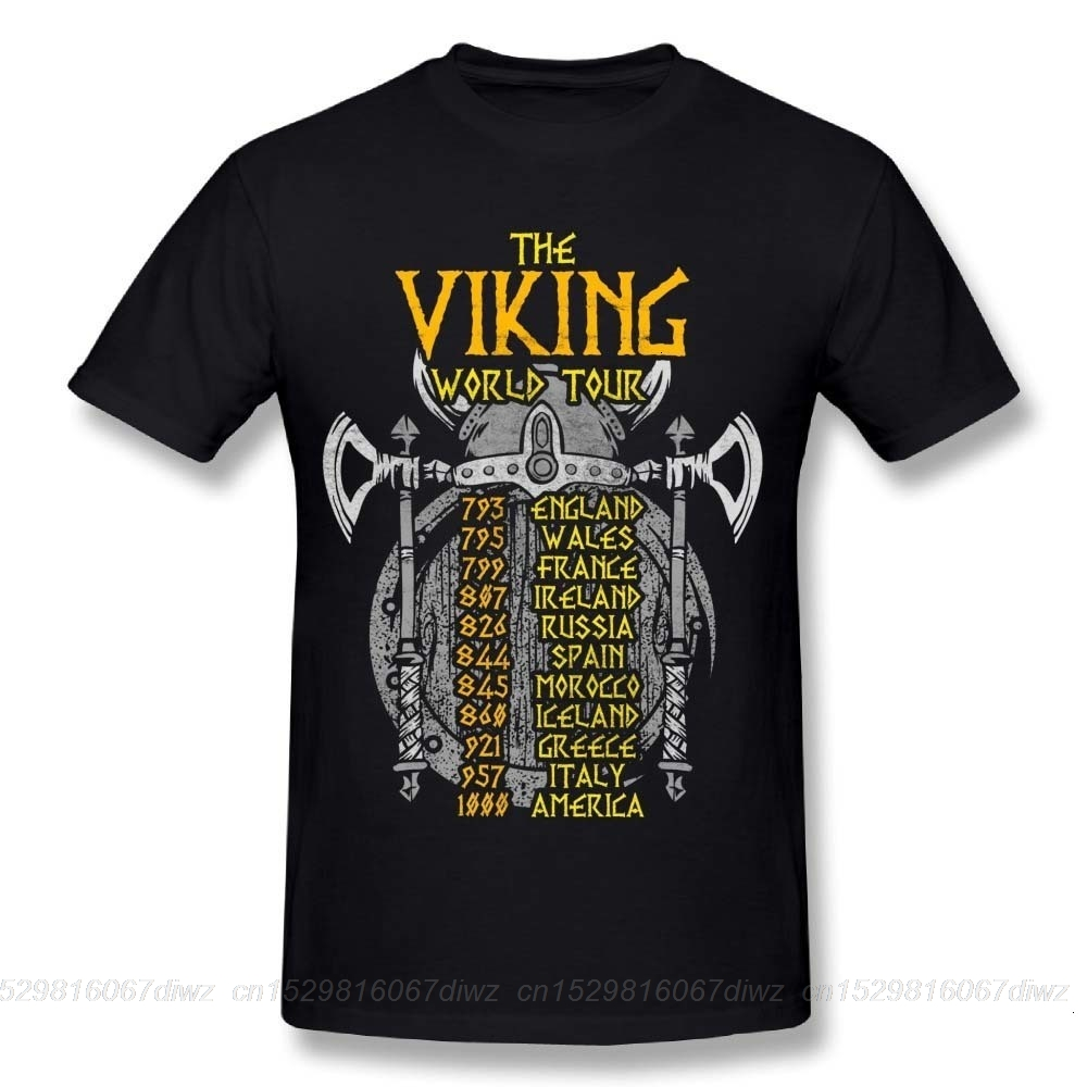 one yona Awesome Male Vikings World Tour Battles of the Past Humorous Joke T Shirt Comfortable Tees image