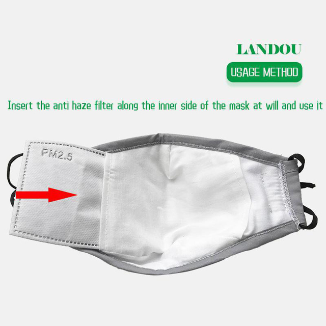 Washable Pm2.5 Face Mask Anti-fog Filter Reusable Mask With Breathing Valve Activated Filter Respirator Mouth Mask 3