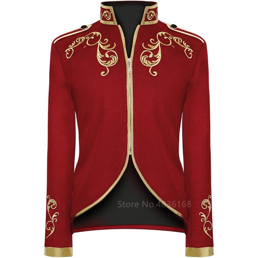 Renaissance Palace 2020 Gentleman Tailcoat King Prince Tuxedo Cosplay Emboridery Vintage Men Medieval Costume Grooms Tunic Noble
