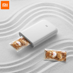 Original Xiaomi Bluetooth impresora portatil 300dpi multifuncionales AR foto Mini bolsillo impresora DIY fotos movil foto de papel impresora para iOS todos teléfonos movil impresora peripage