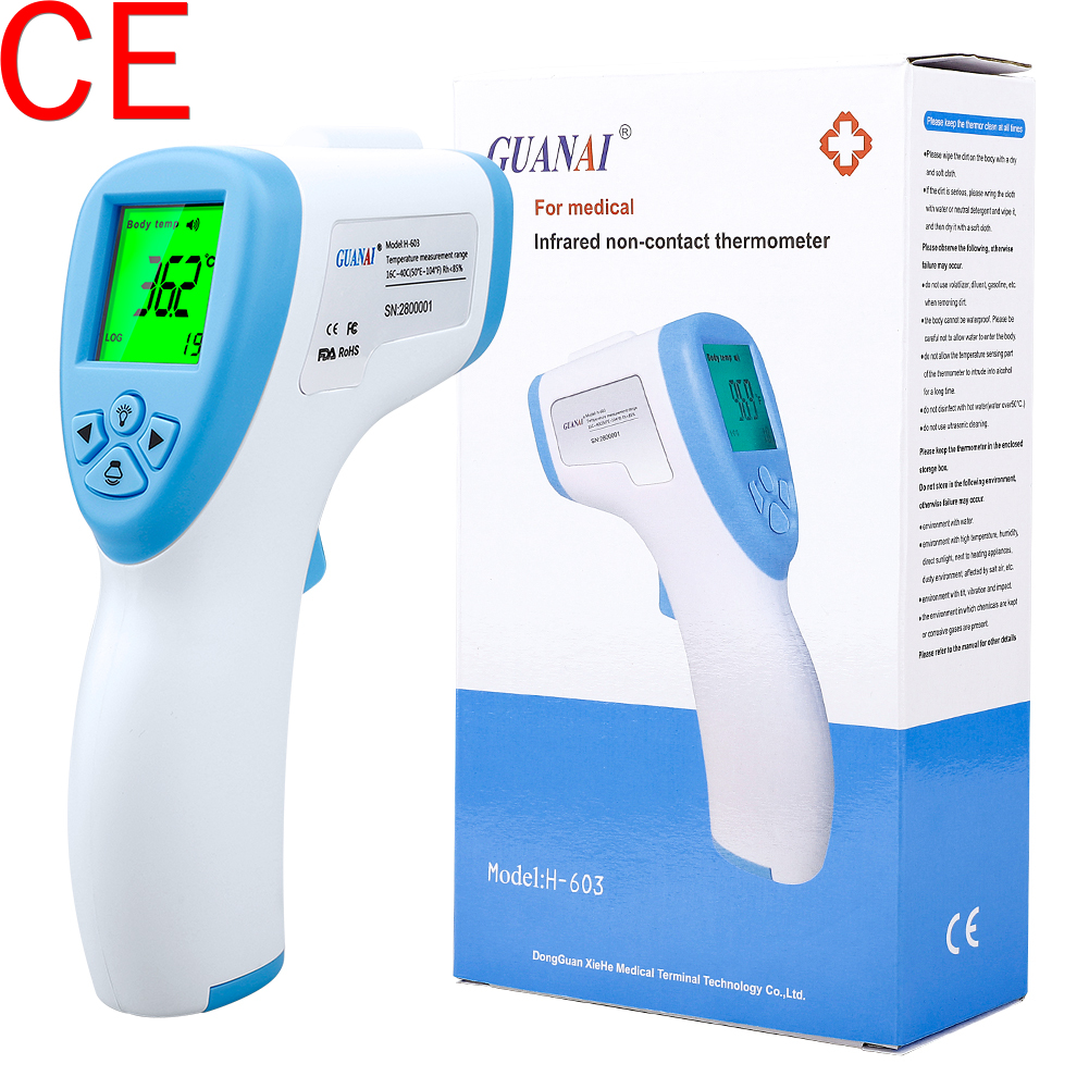 Non-contact Forehead Thermometer LCD Safety Accurate For Baby Kids Adult Temperature Measurement Tool Thermometer Gun