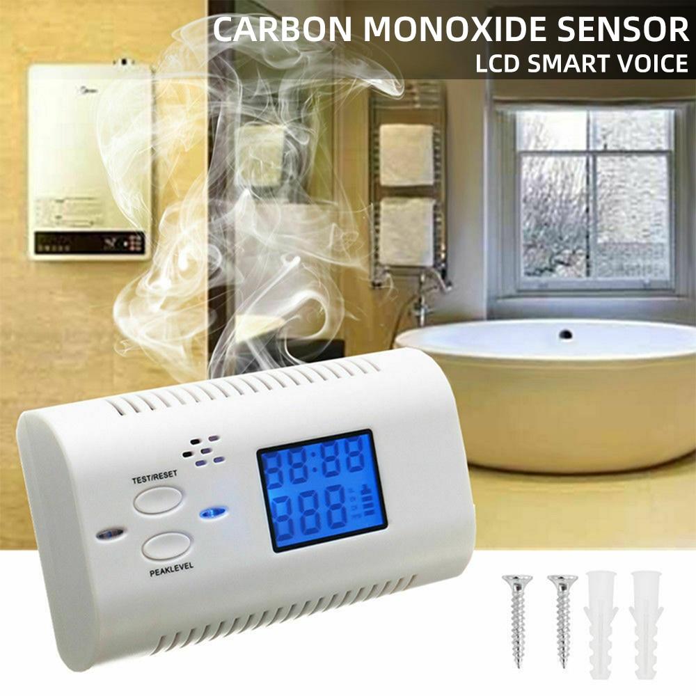 Combinaison détecteur de fumée et de monoxyde de carbone avec écran LCD détecteur de fumée à piles 1 pièces