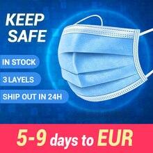 חד פעמי מסכת פה מסכת פנים מסכת 3 שכבה בטיחות מסכה