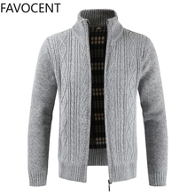 New Fashion Sweater Cardigan Jacket Men's Slim Thick Jumper Knit Zipper Warm Winter Casual Business Style Men's Sweater Coats