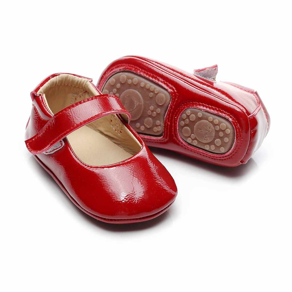 Baby Shoes Girls Shoes Toddler Kids Baby Girls Boys Cute Solid Firstwalk Hook&loop Sapato Casual Shoes Zapatitos Para Bebes#J06