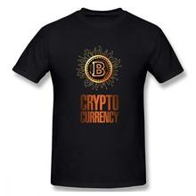 Meninos bitcoin e criptomoeda lettering criptomoeda engraçado novidade masculina básico manga curta camiseta tamanho europeu