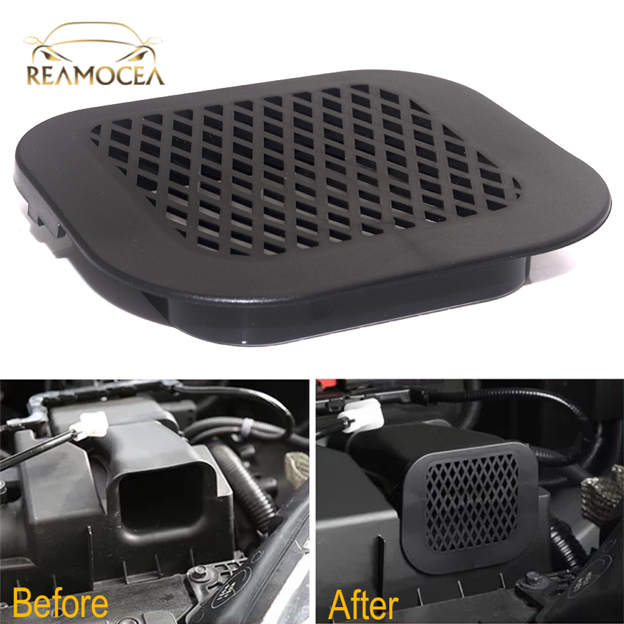 Reamocea 1Pc ABS Black Engine Air Inlet Dust Cover Protector Grille For Honda For Civic 2016 2017 2018 Car Accessories