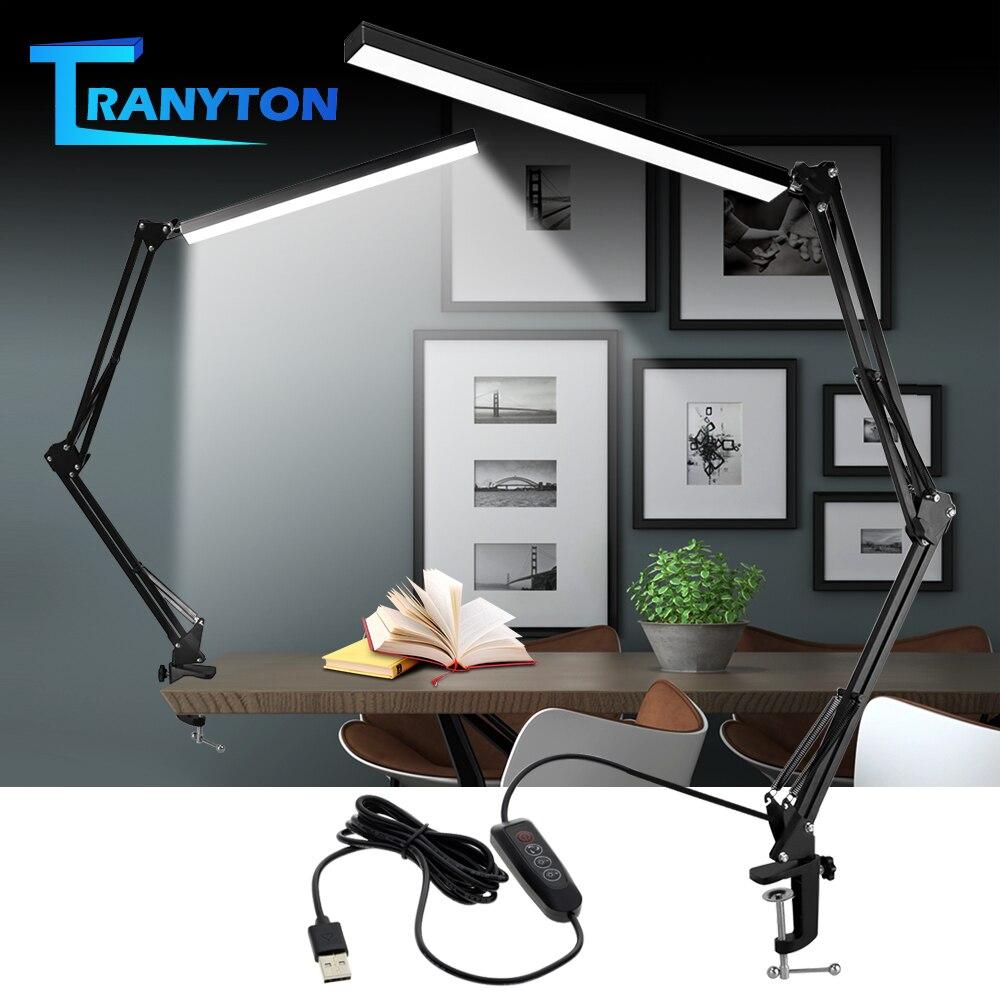 Desk Lamp Folding Eye Protection Light Usb Table Lamp Long Arm Aluminum With 3 Color Flexible Led Desk Lamp Led Bulbs Modern Dc Desk Lamps Aliexpress