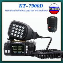 2021 mini rádio móvel qyt KT-7900D 25w 136-174/220-260/350-390/400-480-mhz fm transceptor quad banda amador walkie talkie + cabo