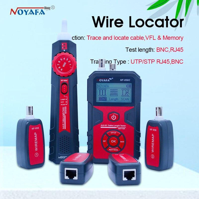 Кабельный локатор RJ11 RJ45 BNC, портативный тестер кабелей для проверки сетевого кабеля, NF 858