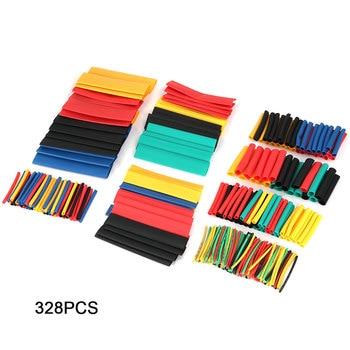 цена на 328Pcs Heat shrink tube kit Insulation Sleeving Polyolefin Shrinking Assorted Heat Shrink Tubing Wire Cable