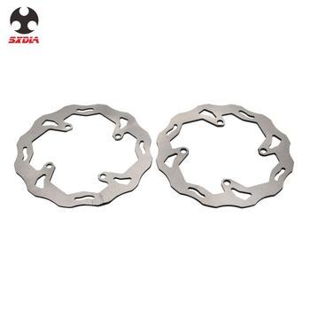 Motorcycle Steel Rear Front Brake Disc For SUZUKI RMZ250 RMZ450 RMZ 250 450 05 06 07 08 09 10 11 12 13 14 15 16 17 RMX450Z 10-11
