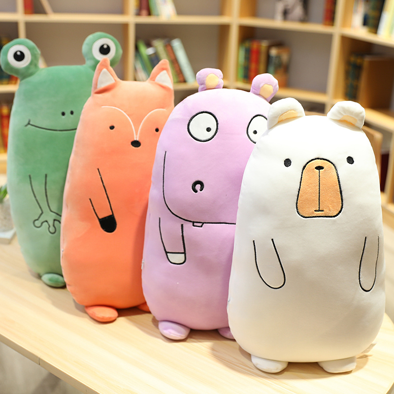 Hot Nice Plush Dinosaur <font><b>Unicorn</b></font> Frog Fox Hippo <font><b>Toys</b></font> Kawaii Pillow Soft Stuffed Animal Dolls Soft Cushion Plush <font><b>Toys</b></font> <font><b>Girl</b></font> Gift image