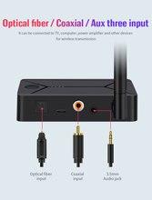 Adaptador transmisor de audio inalámbrico con bluetooth 5,0, entrada coaxial de fibra óptica de 3,5mm para auriculares de TV y PC