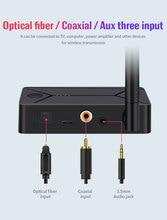 DC 5V Wireless audio bluetooth 5.0 trasmettitore adattatore 3.5mm ingresso fibra ottica coassiale per TV PC auricolare auricolare