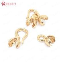 (37679)6 шт Длина 22 мм 24k золото Цвет латунные ожерелья браслеты