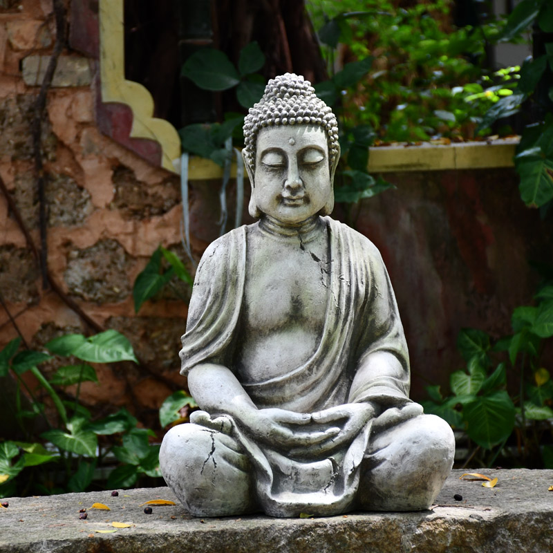 Model Big Size 66cm Sitting Buddha Statue Garden Sculpture Home Ornaments Statues Outdoor Simulation Pond Decor Landscape Crafts Statues Sculptures Aliexpress
