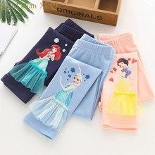 Leggings pour filles, pantalons de dessin animé Elsa, slim, imprimé, nouvelle collection