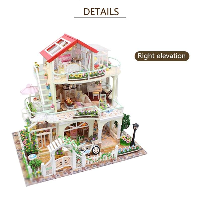 Bricolage maison de poupée cadeau de noël modèle jouets pour lumière éternelle maison de poupée Mini bâtiment Minature artisanat décorations pour la maison 13845 - 3