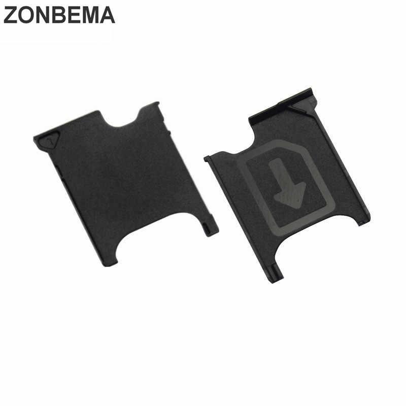 ה-sim SD כרטיס מחזיק יחיד כפולה חריץ מגש מתאם עבור Sony Xperia Z Z1 Z2 Z3 Z4 Z5 XZ X XZS XZ1 קומפקטי מיני פרימיום ביצועים