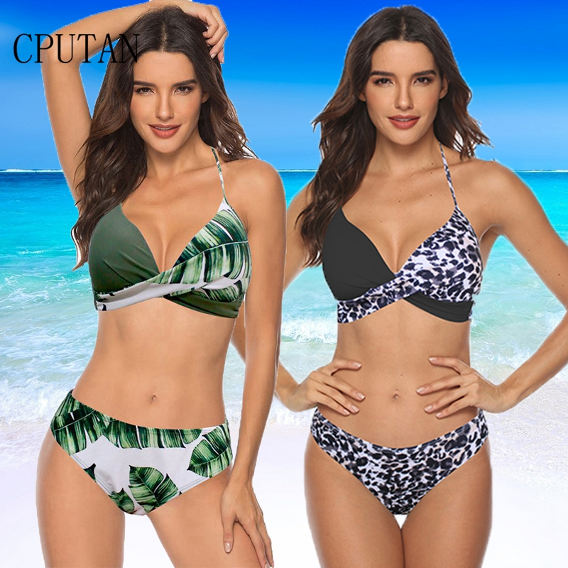 CPUTAN 2020 New Sexy Printing Swimwear Women Swimsuit Push Up Bikini Set Summer Low Waisted Bathing Suit Plus Size Swimwear 3XL