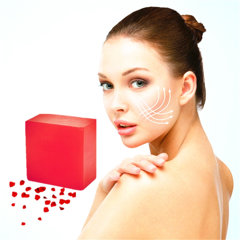 Purifying Toxin Herbal Acne Scar Repair Beauty Cleansing Soap Removal Pimple Pores Pimples Treatment Rose Whitening Soap 100g