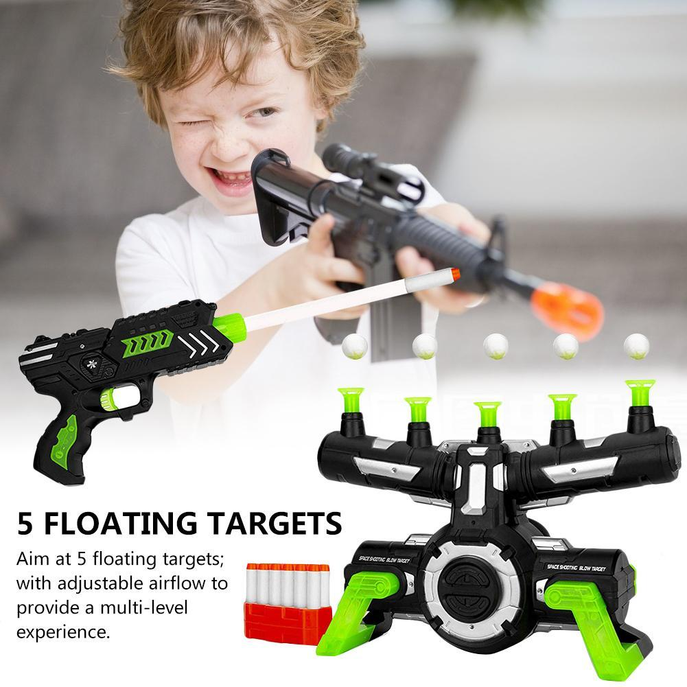 Glow In The Dark Floating Target Shooting Flying Ball Shooting Game Toy With Music Target Practice Toys Birthday Gift For Kids
