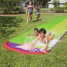 Водные виды спорта гигантский задний двор водная горка детские водные лыжи Летние Водные Игрушки уличная Трава Спрей для воды скольжение для серфинга сад
