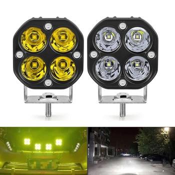 3inch Mini led work light Square 40W Car Yellow White Spotlight 12V 24V off road fog lamp For Lada Truck 4X4 4WD Car accessorie