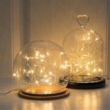 5 шт., 3 м, новинка, медная гирлянда, стеклянная гирлянда, светодиодный светильник на свадьбу, Рождество, Год, сказка, украшение для праздника, аксессуары