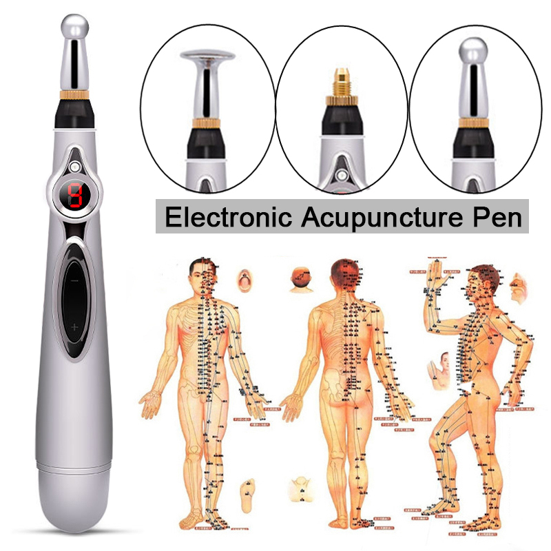 Electronic Acupuncture Pen Electric Meridians Laser Magnet Therapy Heal Massage Pen Meridian Energy Pen Relief Pain Health Care