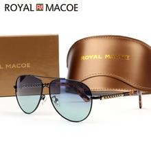 ROYAL MACOE Men Vintage UV400 Polarized Sunglasses Classic B