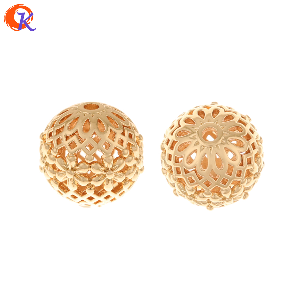 Cordial Design 50Pcs 14*14MM Jewelry Accessories/Hand Made/Copper Beads/Ball Shape/DIY Beads Making/Connectors/Earring Findings