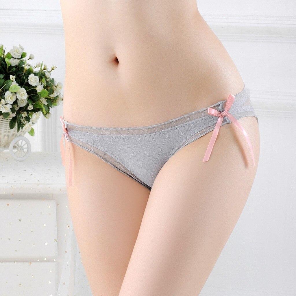 Women's Panties Sexy Floral Mesh Splice Briefs Panties Underwear Women Thongs Lingerie Underwear Underpants Bielizna Damska