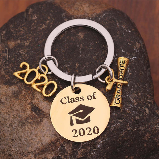 Class Of 2020 Graduation Date.Us 1 9 20 Off Graduation Gift Keychain Class Of 2020 Graduation Gift Stainless Steel Key Ring High School Graduation College Graduation In Key