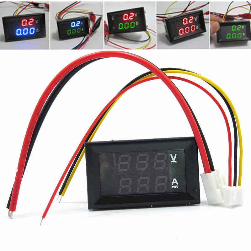 10A 50A 100A voltmètre numérique ampèremètre double indicateur LED pièces de panneau